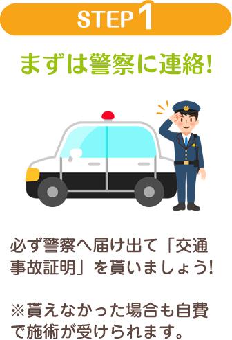 まずは警察に連絡
